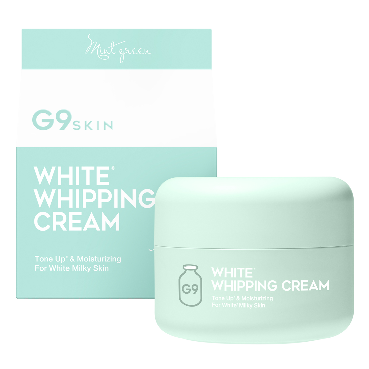 G9 SKIN WHITE WHIPPING CREAM #MINT GREEN