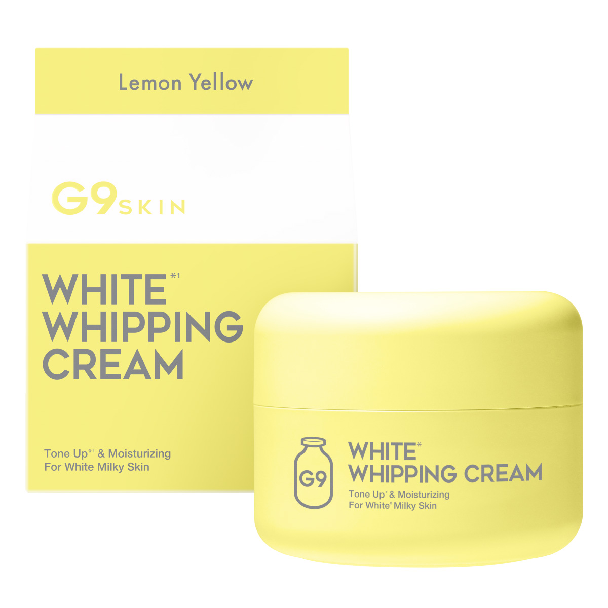 G9 SKIN WHITE WHIPPING CREAM #LEMON YELLOW